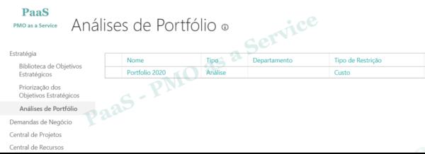 PWA Enterprise - Portfolio - Analises das Restricoes de Custos