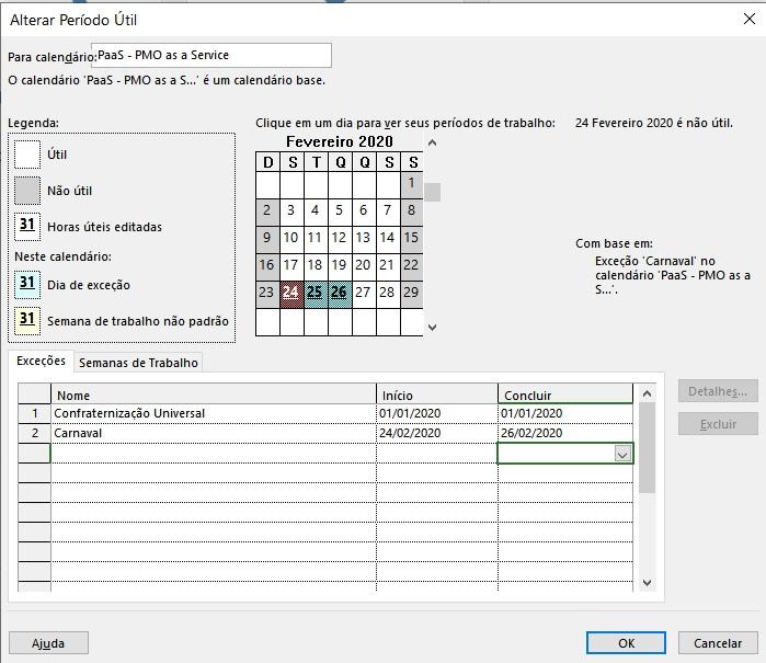 Como Editar Calendários da Empresa no Project Desktop