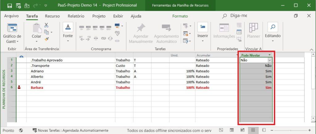 Como Nivelar Recursos Automaticamente no Project Desktop
