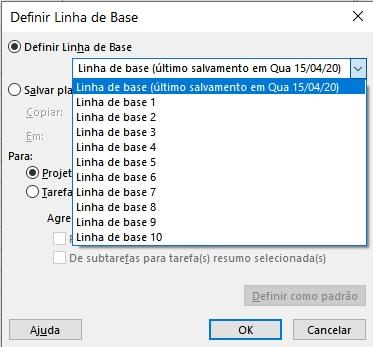 Linha de Base ou Baseline