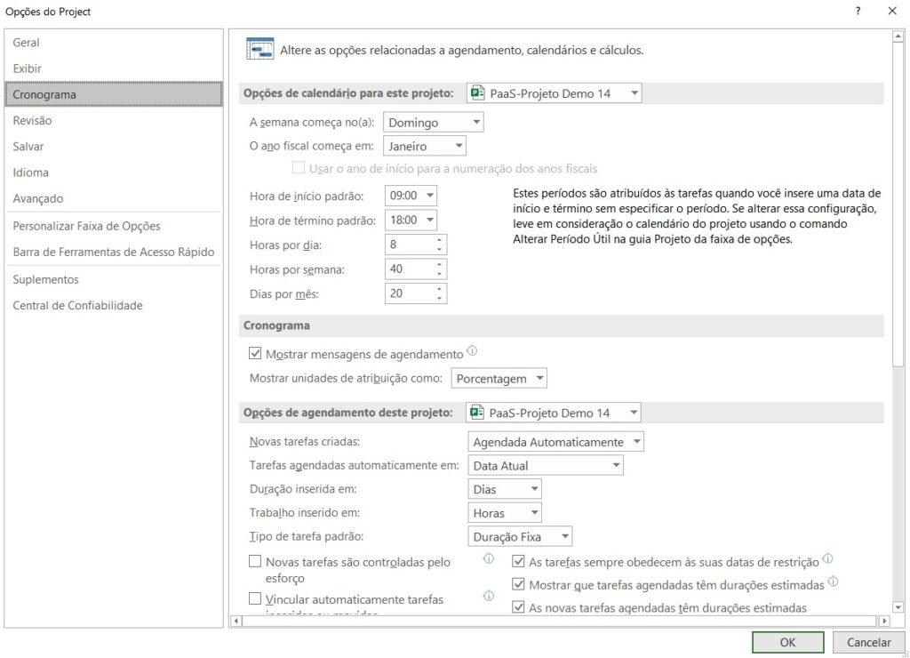 Como Configurar o Project Desktop Para Seus Cronogramas