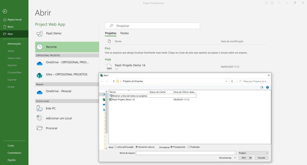 Como Conectar o Project Desktop ao Project Online